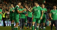 Jonathan Walters: Celebrates with Ciaran Clark after Republic of Ireland win