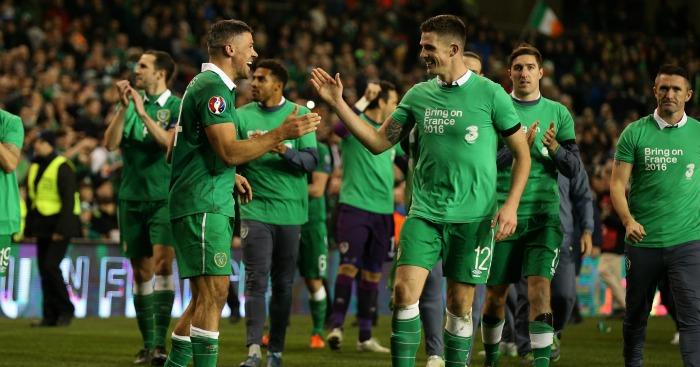 Jonathan Walters: Celebrates with Ciaran Clark after Republic of Ireland win