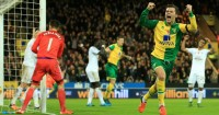 Jonny Howson Norwich v Swansea TEAMtalk