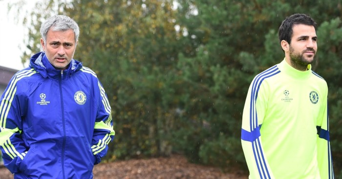 Cesc Fabregas: Claims made he has fallen out with Jose Mourinho