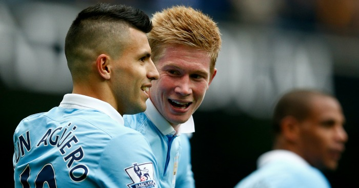 Sergio Aguero: Enjys playing with Kevin De Bruyne