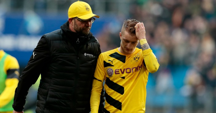 Jurgen Klopp: Pictured with Marco Reus of Dortmund