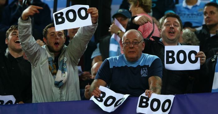 Manchester City fans: Unhappy with UEFA