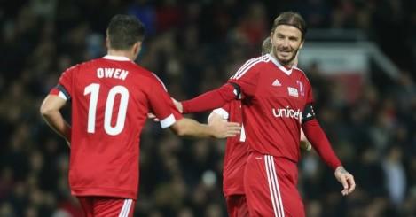 Michael Owen: Striker scored twice in charity match