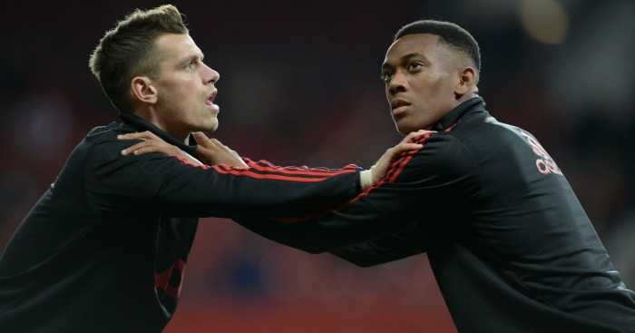 Morgan Schneiderlin, and Anthony Martial: Back with United after emotional week