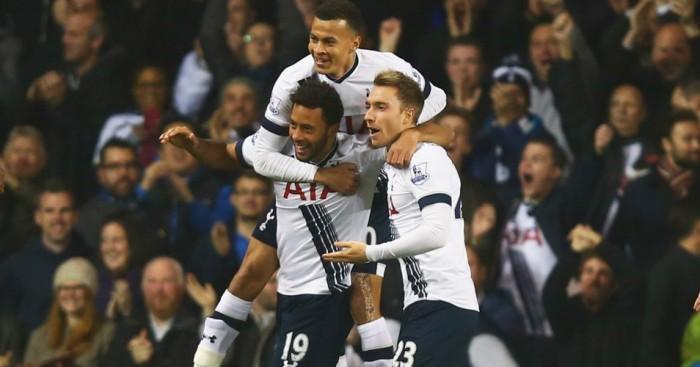 Mousa Dembele (bottom left): Celebrates his opening goal