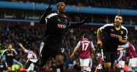 Odion Ighalo: Celebrates Watford's opener at Villa