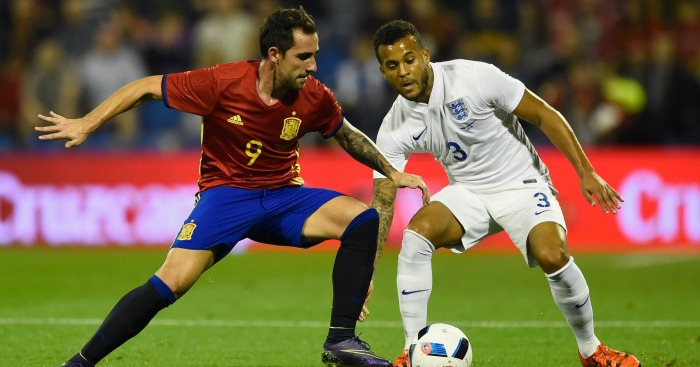 Ryan Bertrand: In action for England against Spain