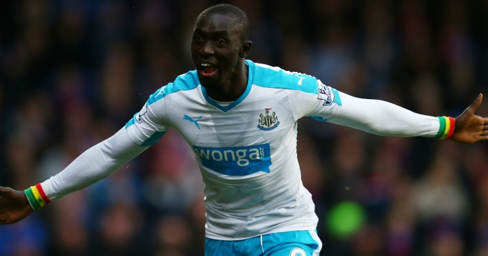 Papiss Cisse: Celebrates Newcastle's goal at Crystal Palace
