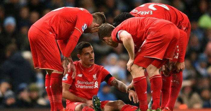 Philippe Coutinho: Brazilian star injured at Manchester City