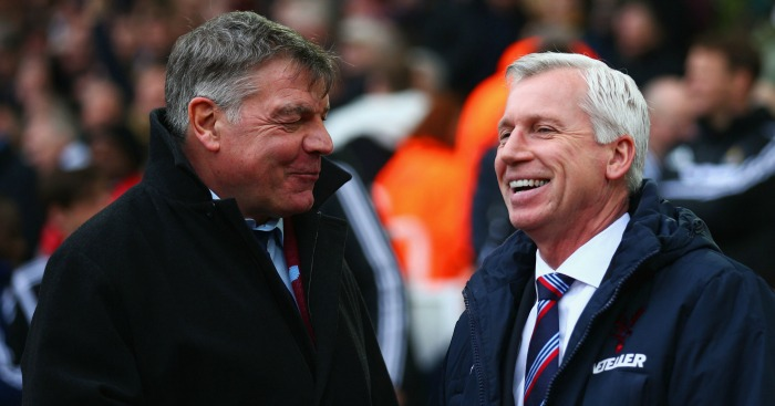 Alan Pardew (right): Rates Sam Allardyce highly