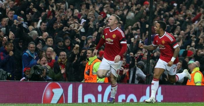 Wayne Rooney: Celebrates his headed winner