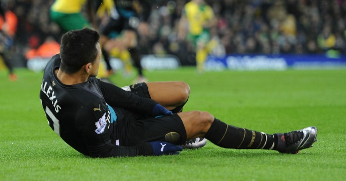 Alexis Sanchez: One of several Arsenal players out injured