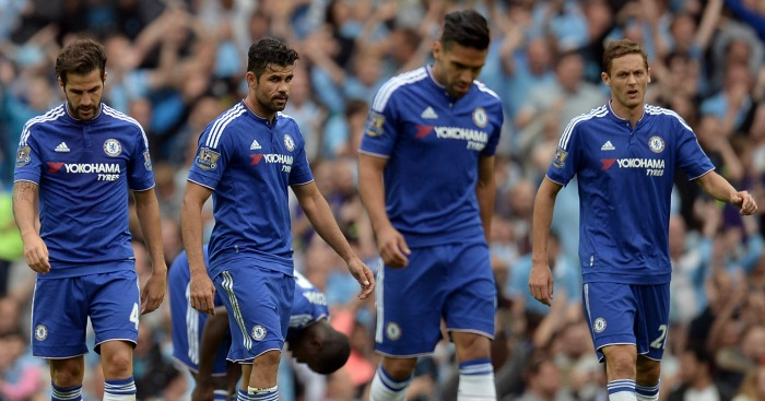 Defeated: Chelsea's title defence suffers blow in loss to City