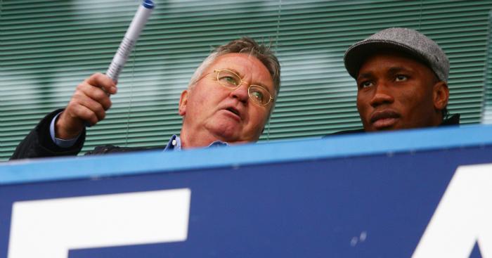Guus Hiddink: Sat next to Drogba at The Bridge