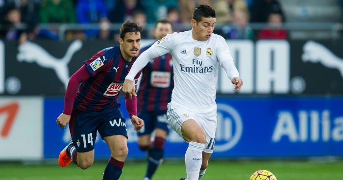 James Rodriguez: Forward started only six La Liga matches