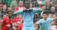 Mario Balotelli: Celebrates that goal at Old Trafford