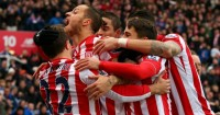 Stoke City: Celebrate against Manchester City