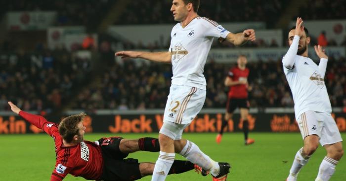 Callum McManaman: Tumbles over at Swansea