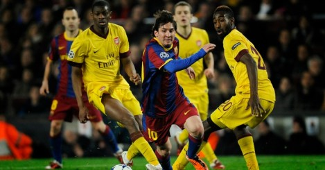 Lionel Messi: Skips away from Diaby and Djourou in 2011