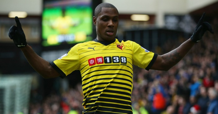 Odion Ighalo: Celebrates Watford's second against Liverpool