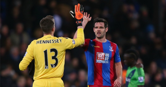 Wayne Hennessey: Celebrates win over Southampton with Scott Dann