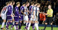 West Brom and Tottenham: Players spoken to by referee Jonathan Moss