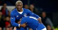Arouna Kone: Celebrates Everton's opener against Dagenham & Redbridge