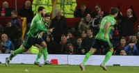 Charlie Austin (l): Scored on his debut