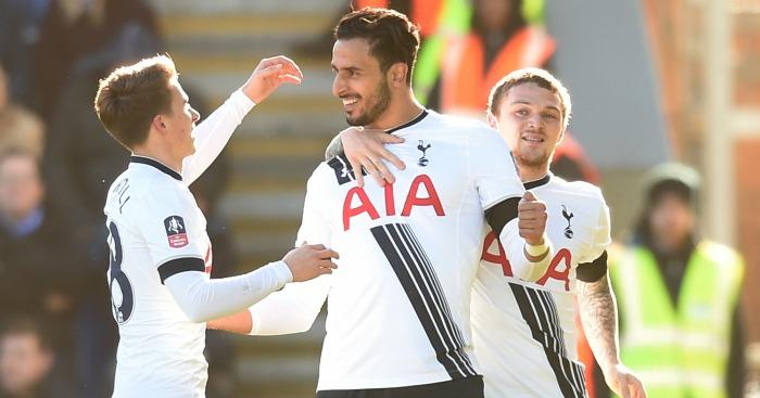 Nacer Chadli: Celebrates his opening goal