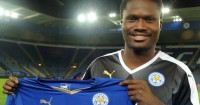 Daniel Amartey: Poses with his Leicester shirt