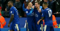 Danny Drinkwater: Celebrates Leicester's opener against Stoke