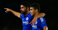 Costa: Responded angrily to heavy Oscar tackle