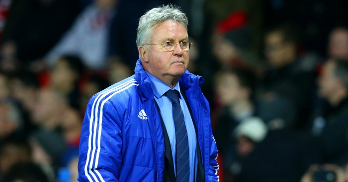 Guus Hiddink: Sent tumbling to the ground