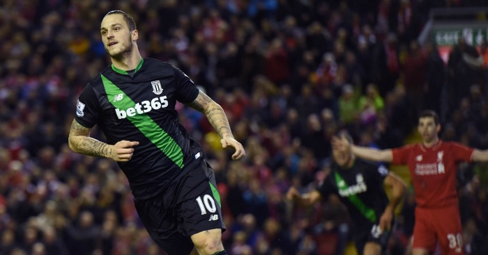Marko Arnoutovic: Scored Stoke's goal at Liverpool