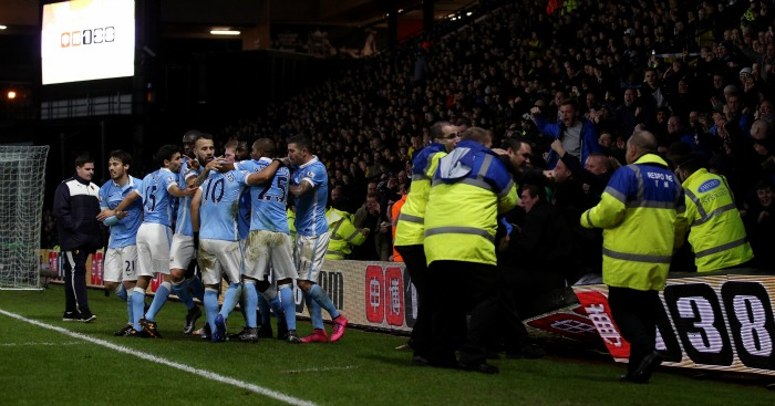 Manchester City: Celebrate Sergio Aguero's winning goal at Watford