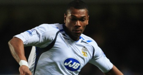 Marcus Bent: Seen playing for Wigan in 2008