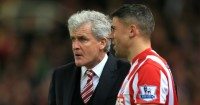 Mark Hughes and Jonathan Walters: Tend to fare well against Arsenal