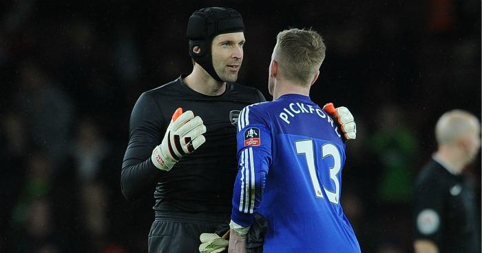 Jordan Pickford: Speaks to Petr Cech after Sunderland's defeat at Arsenal