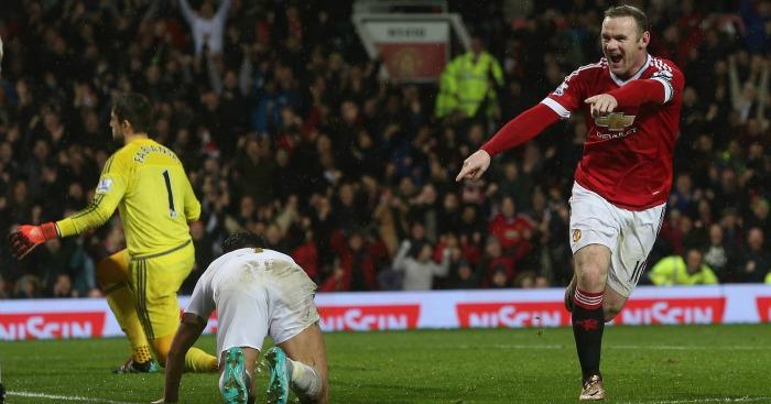 Wayne Rooney: Celebrates his back-heeled winner