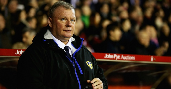 Steve Evans: Does not fear for his Leeds United future