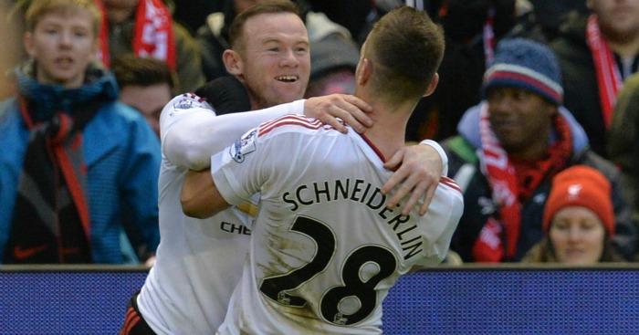 Rooney and Schneiderlin: Celebrate United's winner