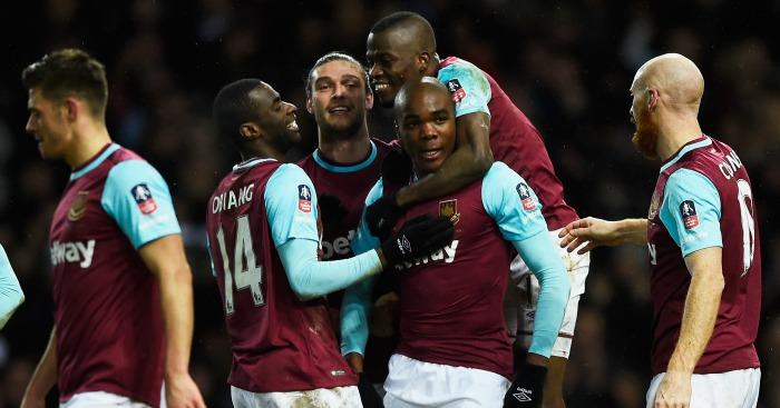 Angelo Ogbonna: Celebrates West Ham's late winner
