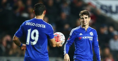 Diego Costa & Oscar: Duo have enjoyed a revival under Hididnk