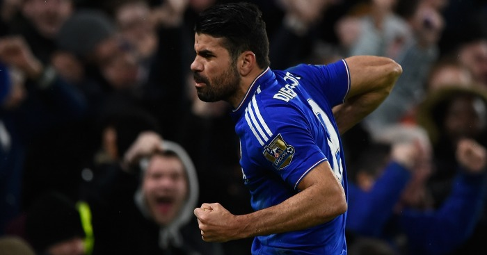 Diego Costa: Celebrates his injury-time equaliser