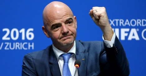Gianni Infantino: Succeeded the disgraced Sepp Blatter