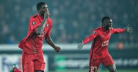 Paul Onuachu: Celebrates winning goal for Danish champions