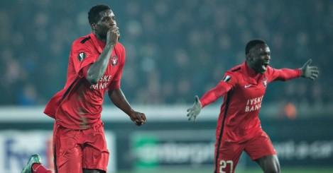 Paul Onuachu: Celebrates winning goal for Danish champions