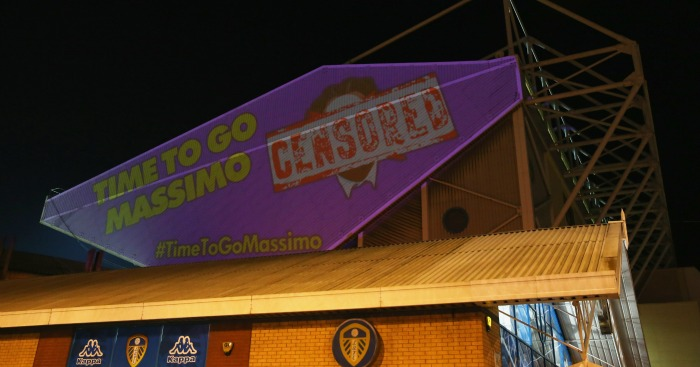 Leeds protest: Fans unhappy with Cellino's ownership