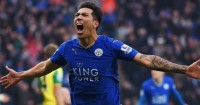Leonardo Ulloa: Celebrates his late winner against Norwich
